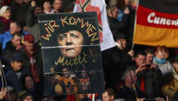 Demonstracja Pegidy, Drezno - Sputnik Polska