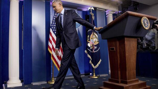 Prezydent USA Barack Obama w Białym Domu - Sputnik Polska