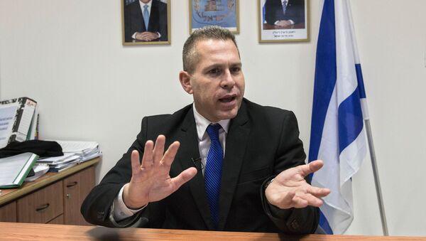 Minister bezpieczeństwa wewnętrznego i planowania strategicznego Izraela Gilead Erdan - Sputnik Polska