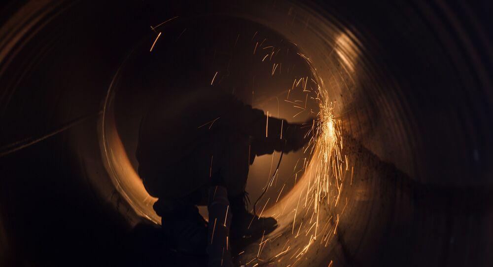 Prace nad budową jednego z gazociągów Gazpromu