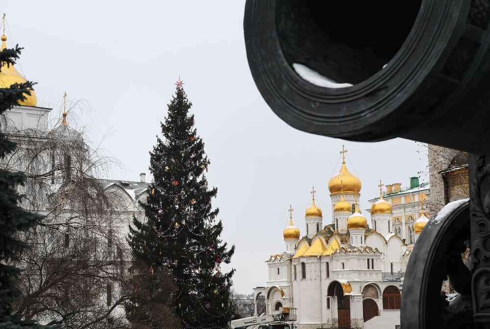 Plac Soborowy w moskiewskim Kremlu