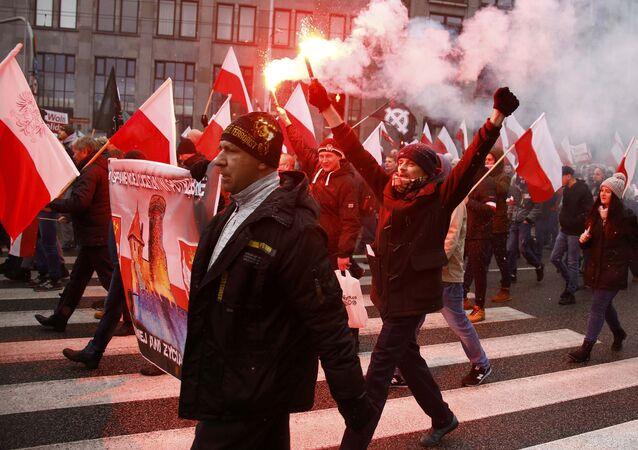 Demonstracja w Warszawie 11 listopada 2016 roku