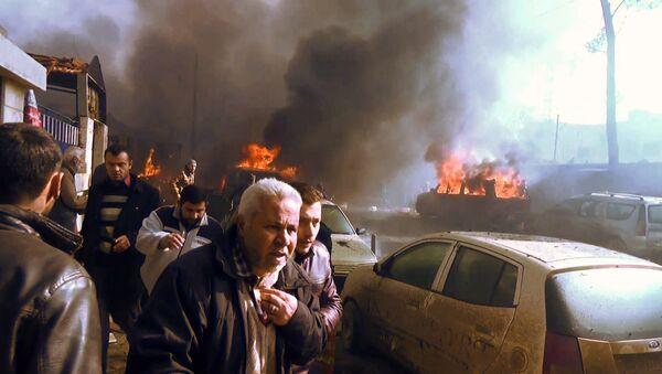 Ponad 100 osób zostało rannych w sobotnim wybuchu samochodu pułapki w syryjskiej miejscowości Azaz na północy kraju - Sputnik Polska