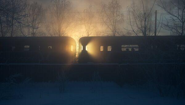 Silne mrozy z Moskwie - Sputnik Polska