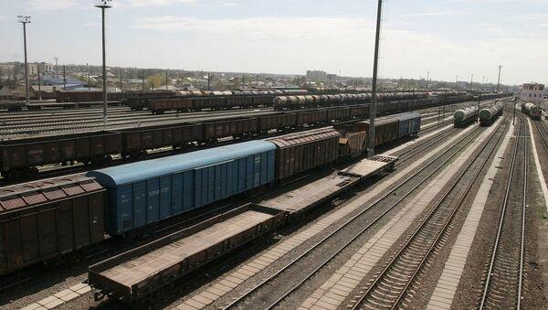 Transport ładunków koleją jest tańszy niż samolotami. Ponadto w przeciwieństwie do przewozów morskich zajmuje znacznie mniej czasu. - Sputnik Polska