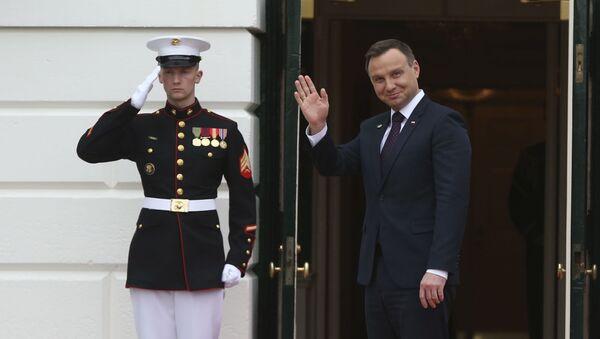 Prezydent Polski Andrzej Duda podczas wizyty w Białym Domu - Sputnik Polska