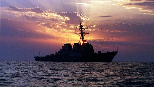 Amerykański niszczyciel w Zatoce Perskiej. Zdjęcie archiwalne - Sputnik Polska