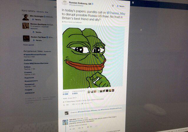 Do twitta dodano rysunek żaby Pepe, co wywołało ostrą reakcję użytkowników portali społecznościowych