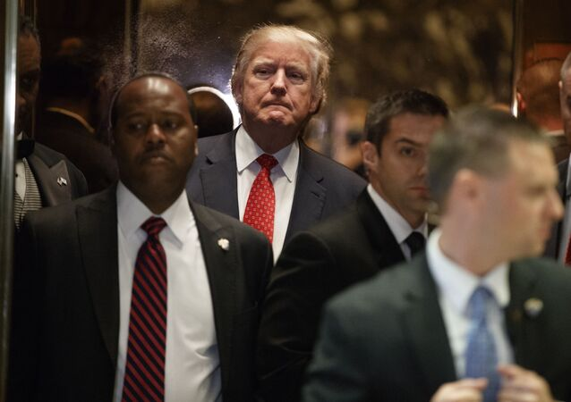 Prezydent elekt USA Donald Trump w Nowym Jorku