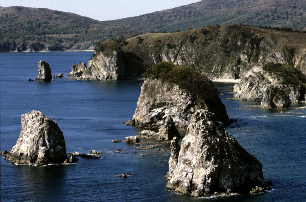 Dalekowschodni Rezerwat Morski znajduje się w zachodniej części Morza Japońskiego. Jest jedyny w swoim rodzaju - 98% jego powierzchni stanowi akwen. Rezerwat obejmuje 11 wysp.