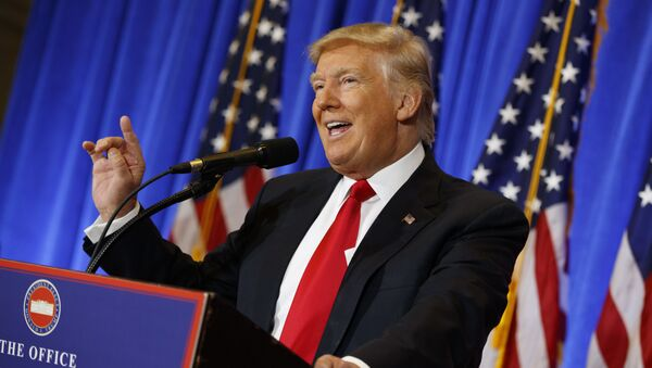Konferencja prasowa Donalda Trumpa - Sputnik Polska