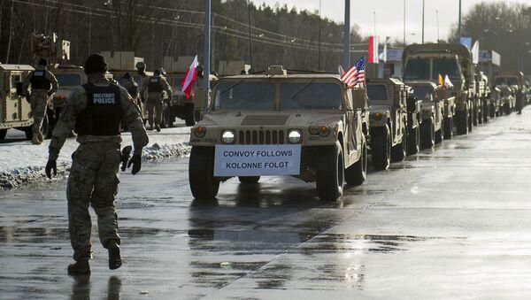 Amerykańska technika wojenna w Polsce, operacja Atlantic Resolve, Olszyna - Sputnik Polska