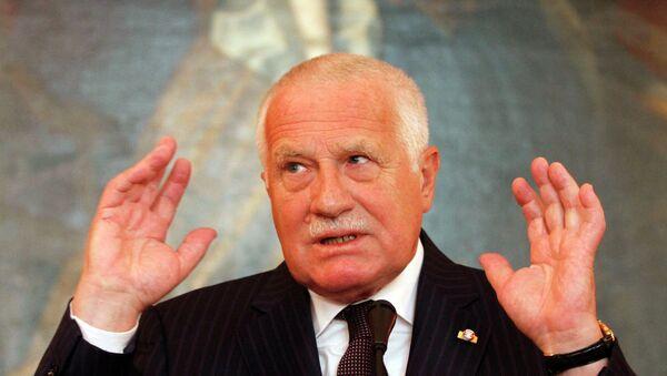 Bývalý český prezident Václav Klaus - Sputnik Polska