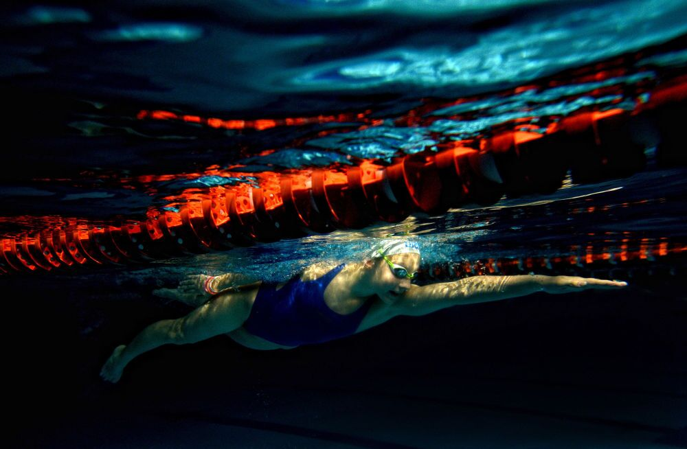 Zdjęcie rosyjskiego fotografa Konstantina Czalabowa Trening Darii Szybarowy, III miejsce Międzynarodowego Konkursu Fotograficznego im. Andreja Stenina w kategorii Sport.