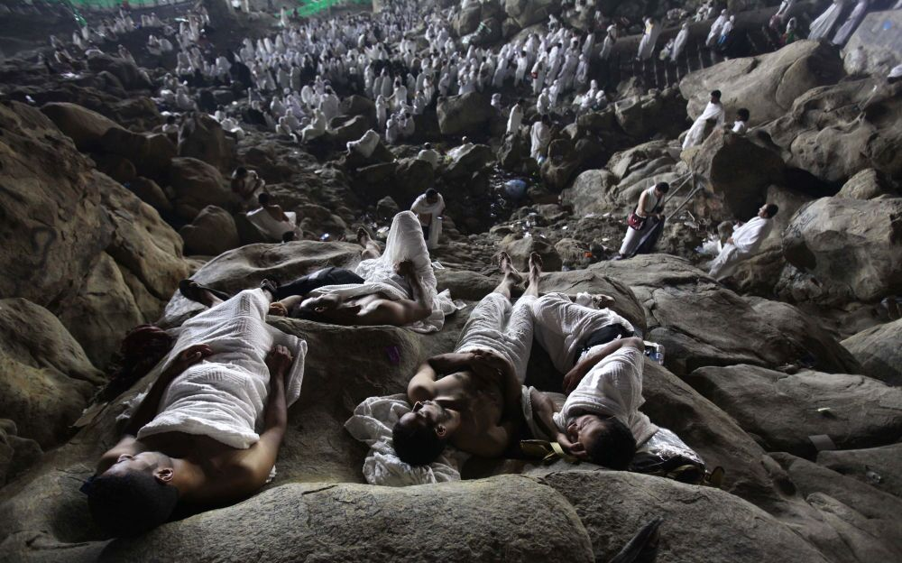 Zdjęcie izraelskiego fotografa Ashrafa Amry The annual muslims Hajj, III miejsce Mędzynarodowego Konkursu Fotograficznego im. Andrieja Stenina, kategoria Codzienne życie.