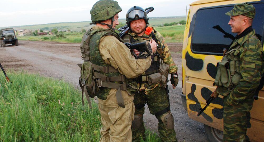 Wywiad batalionowy powstańców DRL w okolicach miejscowości Szyrokino