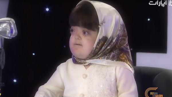 Niewidoma 11-letnia irańska dziewczyna Fatemeh Gharrar - Sputnik Polska