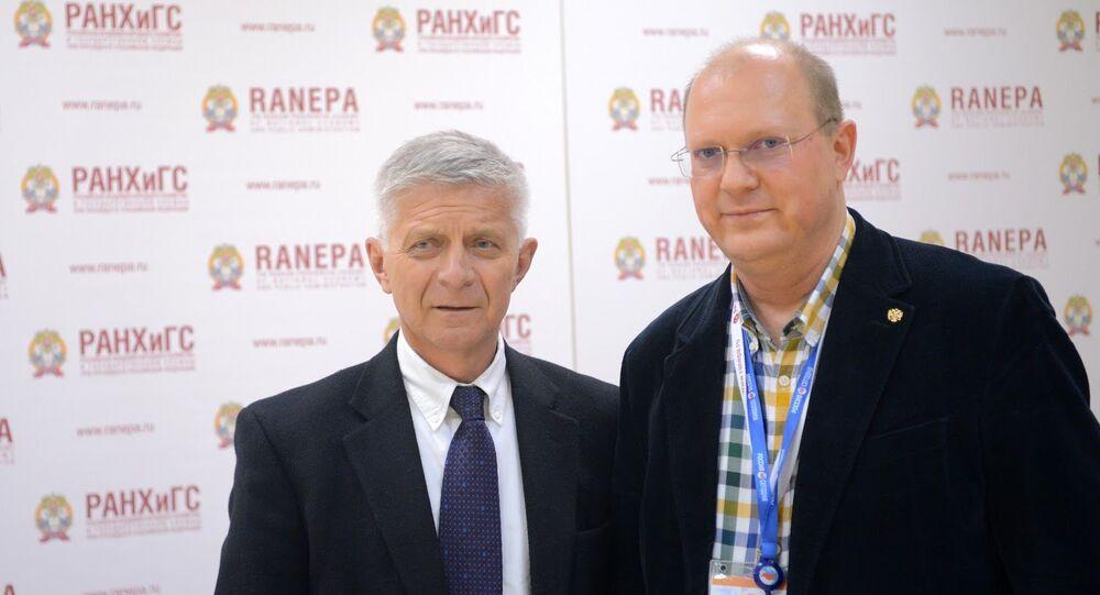 Marek Belka i Leonid Swiridow