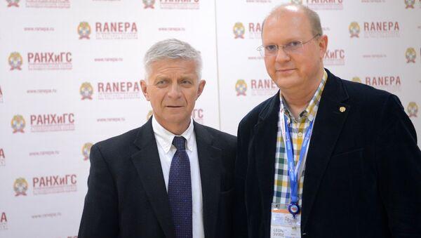 Marek Belka i Leonid Swiridow - Sputnik Polska