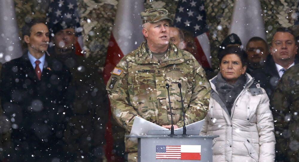 Uroczyste powitanie amerykańskich żołnierzy w Polsce
