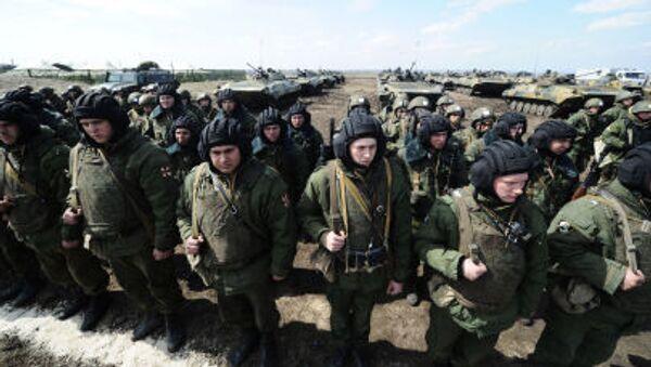 Ćwiczenia armii rosyjskiej w obwodzie rostowskim - Sputnik Polska