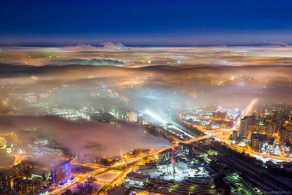 Panorama Moskwy z tarasu widokowego wieży telewizyjnej Ostankino - Sputnik Polska