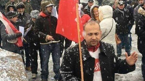 Protest przeciw amerykańskim żołnierzom w Polsce. - Sputnik Polska