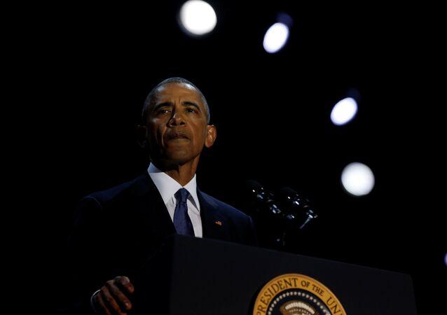 Prezydent USA Barack Obama w Chicago