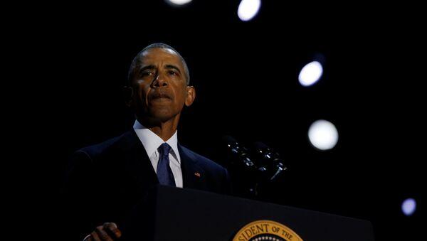 Prezydent USA Barack Obama w Chicago - Sputnik Polska