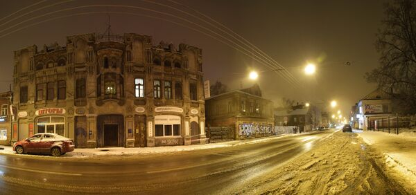 Budynek, w którym mieszczą się usługi pogrzebowe, przy ulicy Aleksiejewskiej. - Sputnik Polska