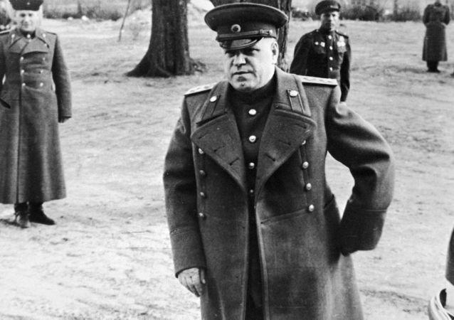 Dowódca 1. Frontu Białoruskiego, marszałek Georgij Żukow