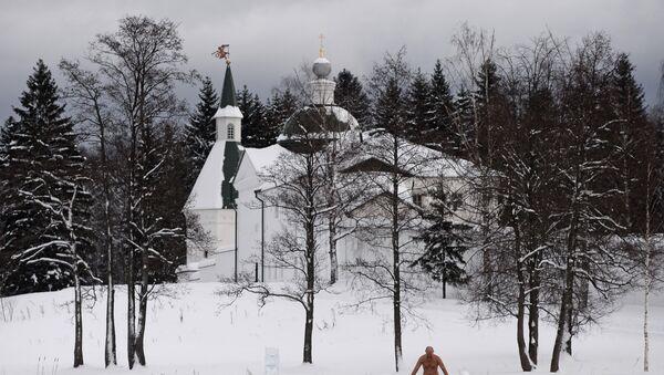 Chrzest Pański w obwodzie nowogrodzkim - Sputnik Polska