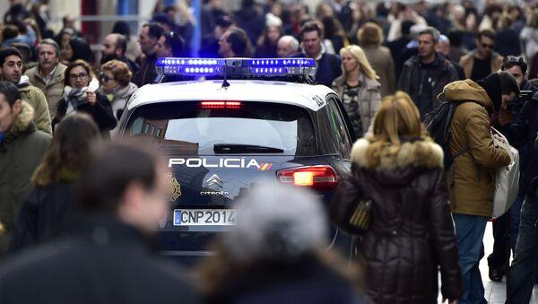 Policyjny radiowóz w Hiszpanii - Sputnik Polska
