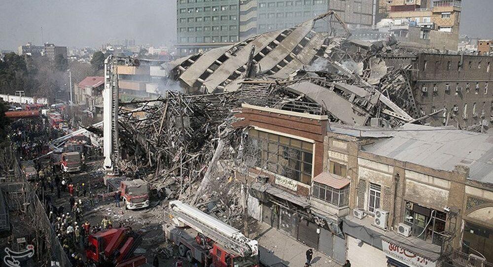 W centrum Teheranu zawalił się budynek Plasco