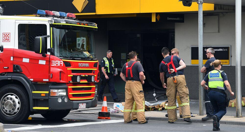 Straż pożarna na miejscu ataku w Melbourne