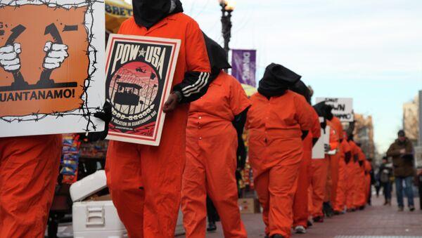 Protest przeciwko stosowaniu tortur w USA - Sputnik Polska