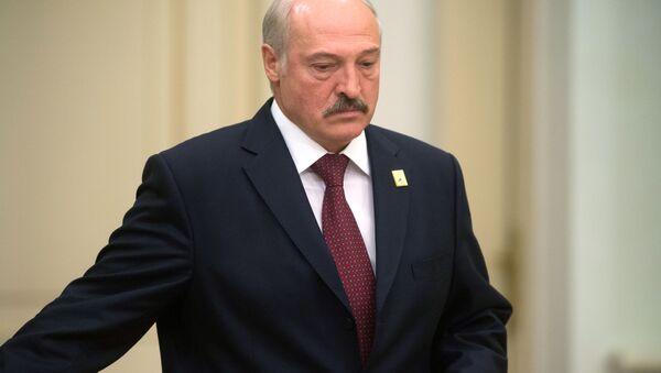Prezydent Białurosi Aleksander Łukaszenka w czasie posiedzenia w Astanie - Sputnik Polska