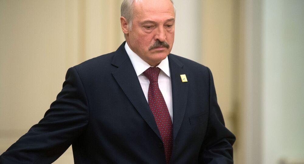 Prezydent Białurosi Aleksander Łukaszenka w czasie posiedzenia w Astanie
