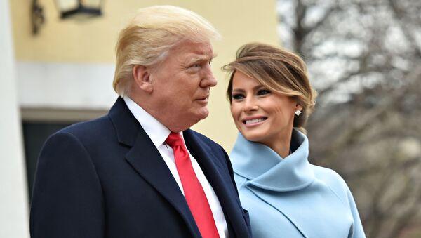 Prezydent USA Donald Trump i jego żona Melania przed rozpoczęciem ceremonii inauguracji - Sputnik Polska