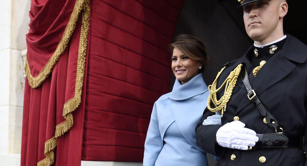 Melania Trump podczas ceremonii inauguracji