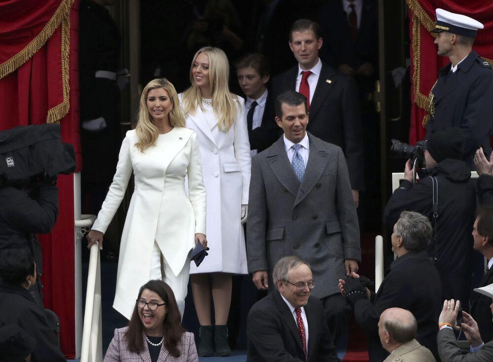Rodzina Donalda Trumpa podczas ceremonii inauguracji