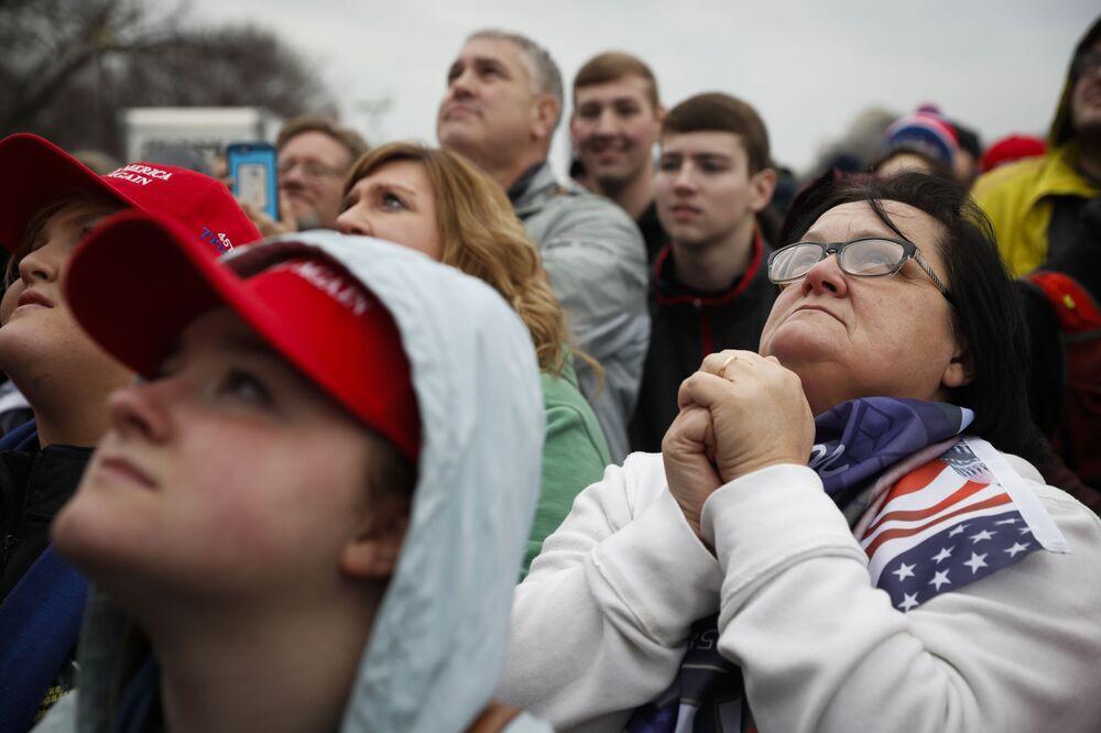 Amerykanie przed rozpoczęciem ceremonii inauguracji