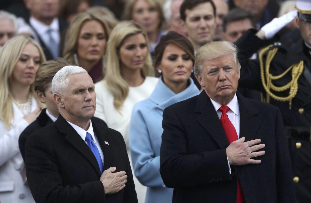 Prezydent USA Donald Trump i wiceprezydent Mike Pence