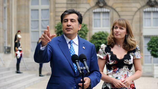 Michaił Saakaszwili z żoną - Sputnik Polska