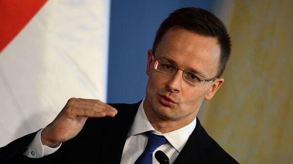 Minister spraw zagranicznych Węgier Péter Szijjártó - Sputnik Polska