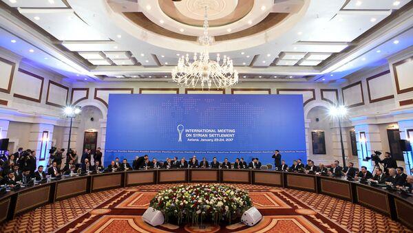 Spotkanie w Astanie w sprawie rozwiązania syryjskiego konfliktu - Sputnik Polska