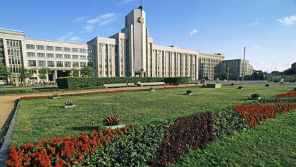 Budynek parlamentu Republiki Białorusi w Mińsku - Sputnik Polska