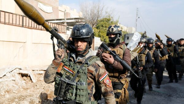 Irackie Siły Specjalne podczas operacji odbicia terutorium uniwersytetu w Mosulu, 13 stycznia 2017 - Sputnik Polska