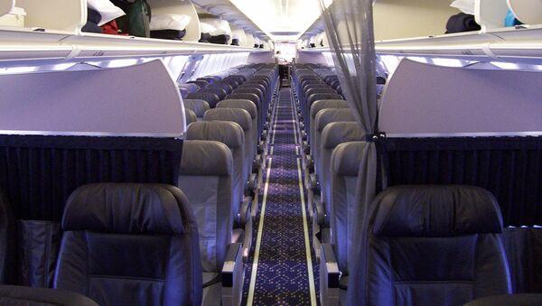 W salonie samolotu linii lotniczych Alaska Airlines - Sputnik Polska