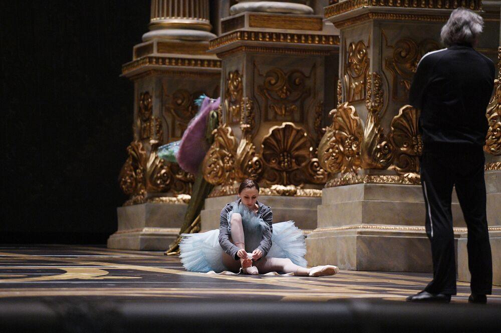Balerina i jej pedagog Aleksandr Wietrow.